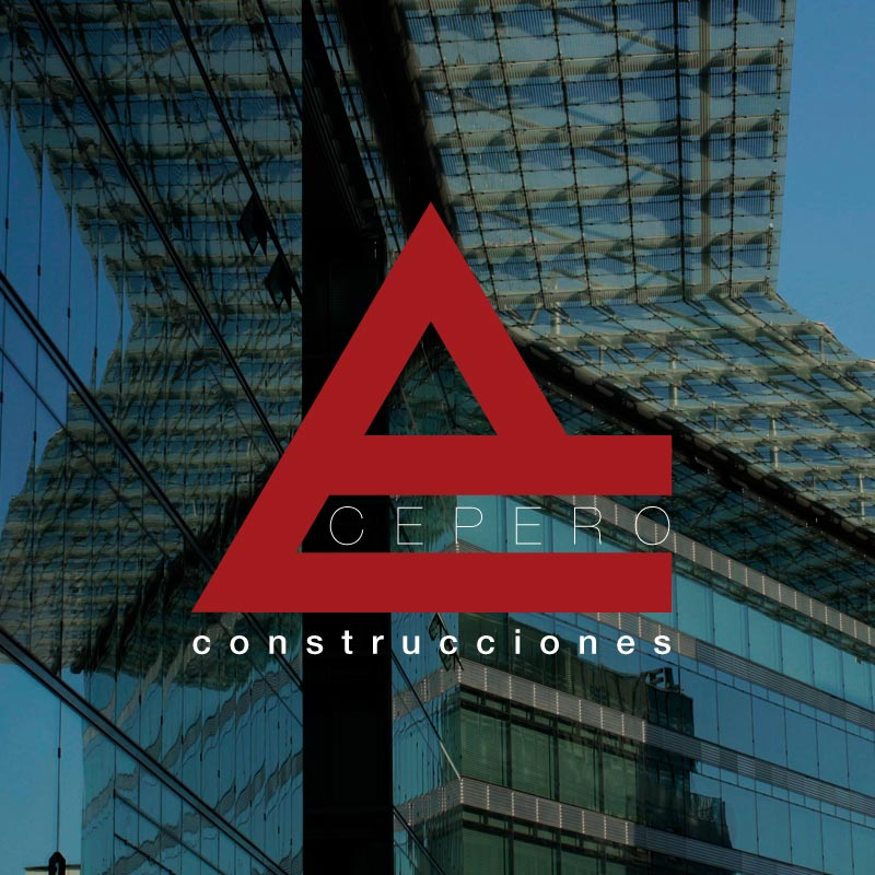 Logo destacado Construcciones Cepero. the Brand Doctor Agencia de Branding y Marketing Online