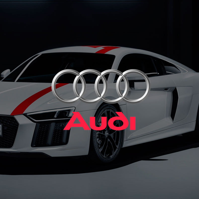 Logotipo destacado Audi Stand. the Brand Doctor Agencia de Branding y Marketing Online