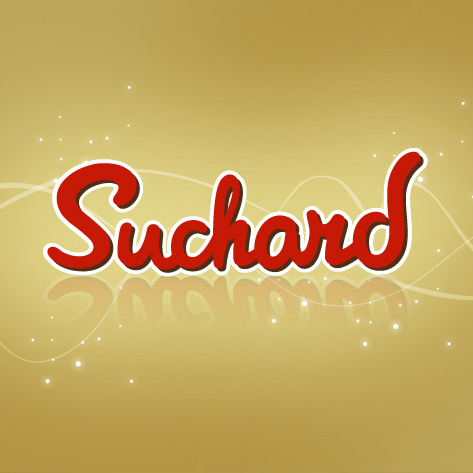 Logo con fondo dorado Suchard, the Brand Doctor