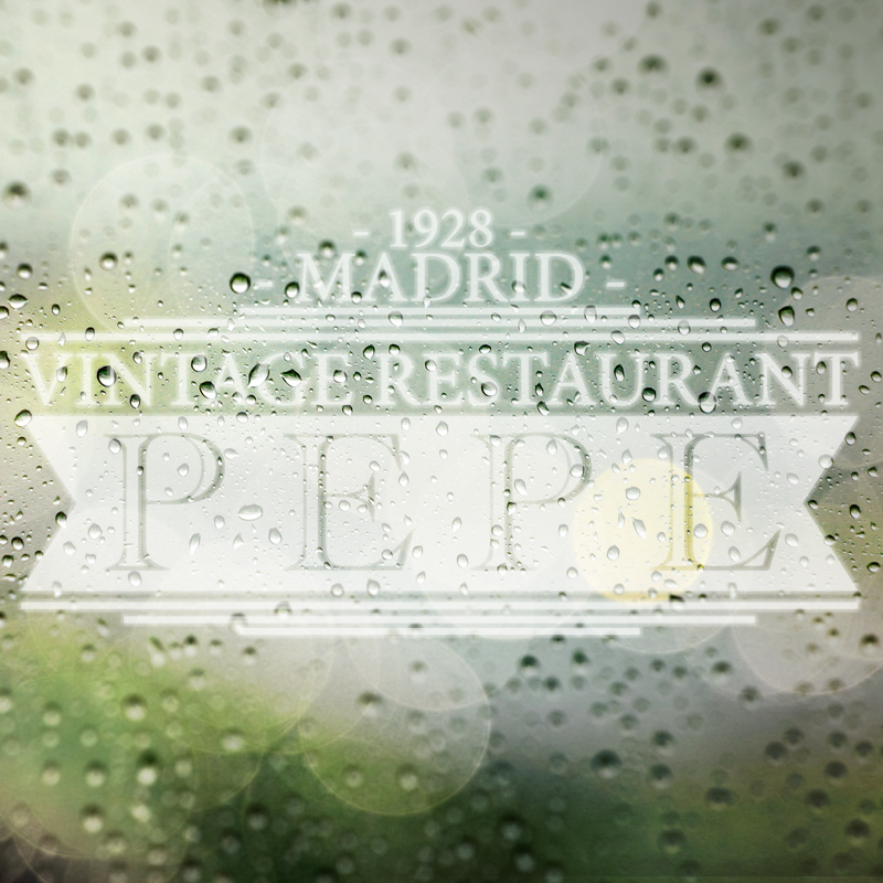 Logotipo destacado Pepe Vintage Restaurant Madrid. the Brand Doctor Agencia de Branding y Marketing Online