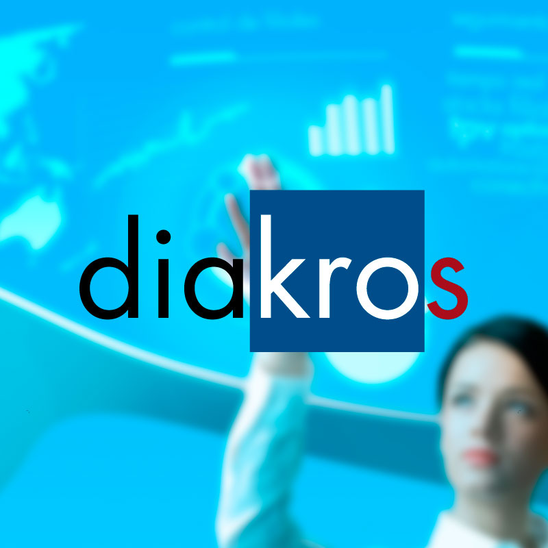 Logotipo destacado diakros software. the Brand Doctor Agencia de Branding y Marketing Online
