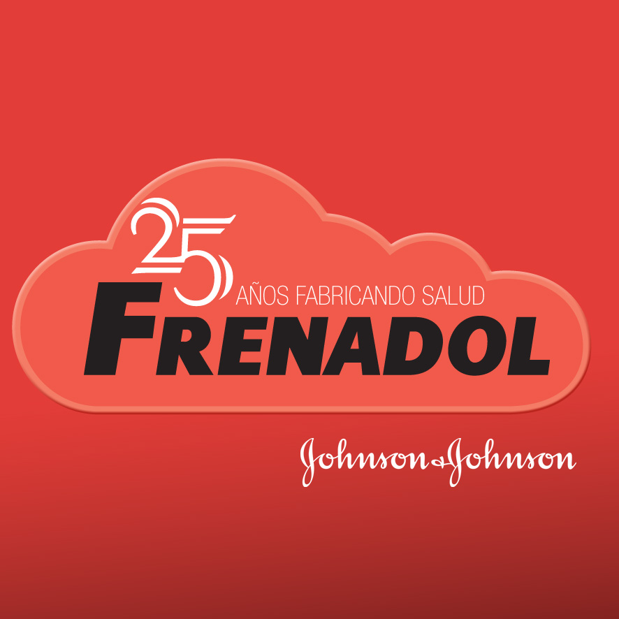 logotipo destacado 25 aniversario Frenadol Johnson & Johnson. the Brand Doctor Agencia de Branding y Marketing Online