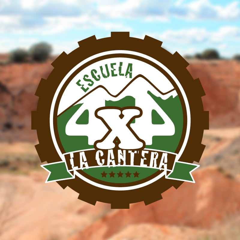 Logotipo destacado La Cantera Escuela de 4x4. the Brand Doctor Agencia de Branding y Marketing Online