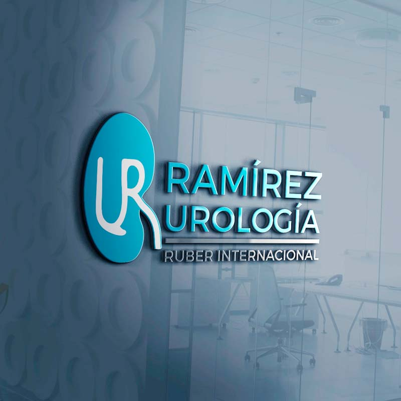 Logo destacado Ramírez Urología Ruber Internacional. the Brand Doctor Agencia de Branding y Marketing Online