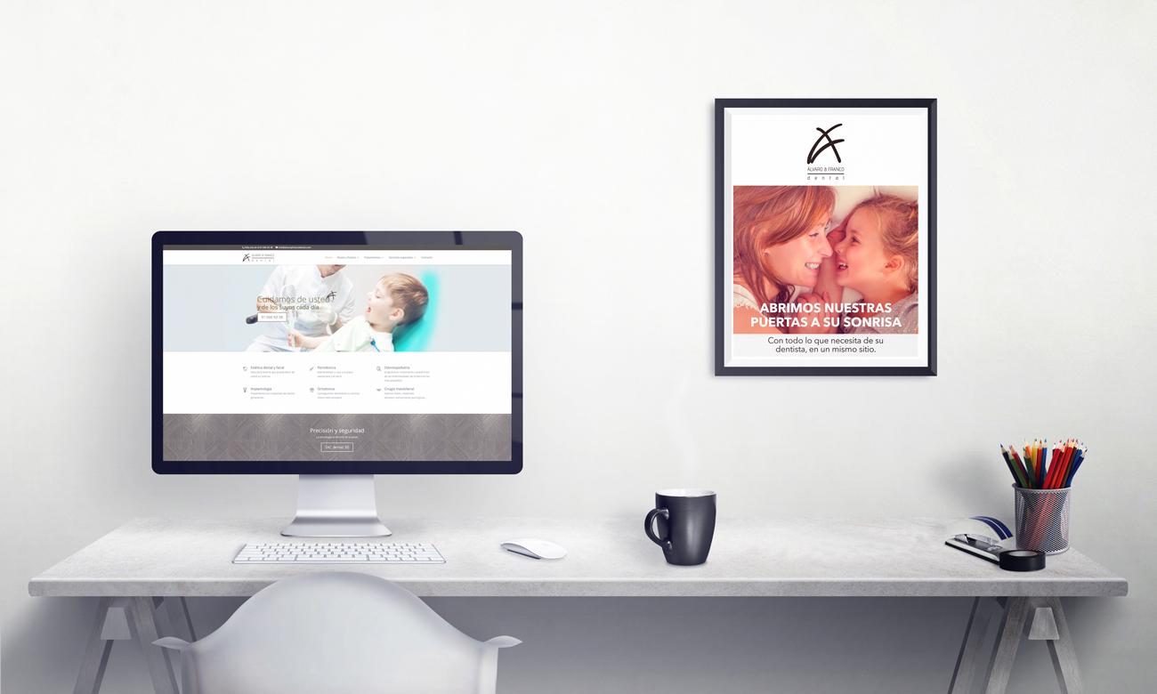 Representación de cuadro y pantalla de Álvaro & Franco. the Brand Doctor Agencia de Branding