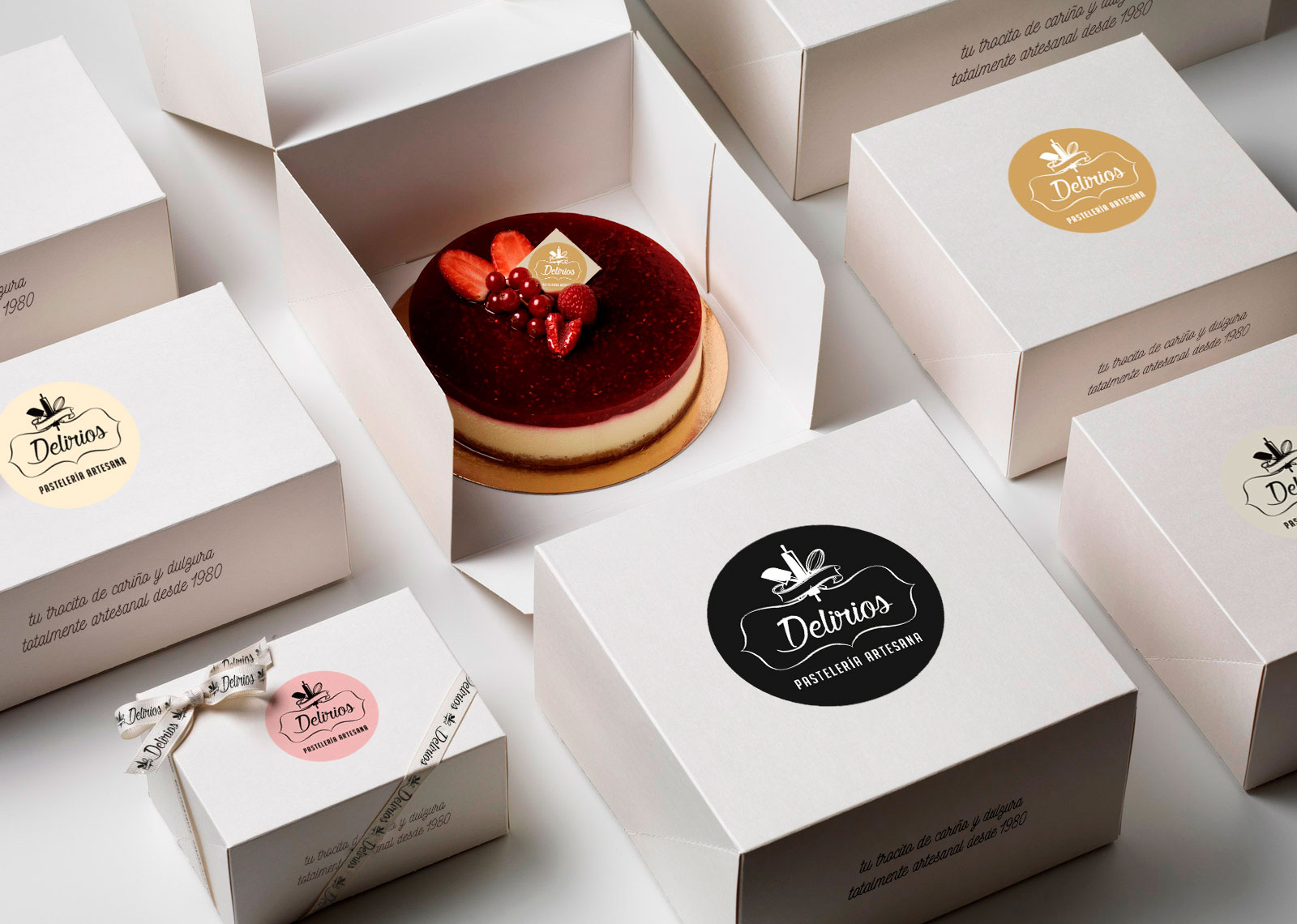 Packaging Delirios de tartas - the Brand Doctor