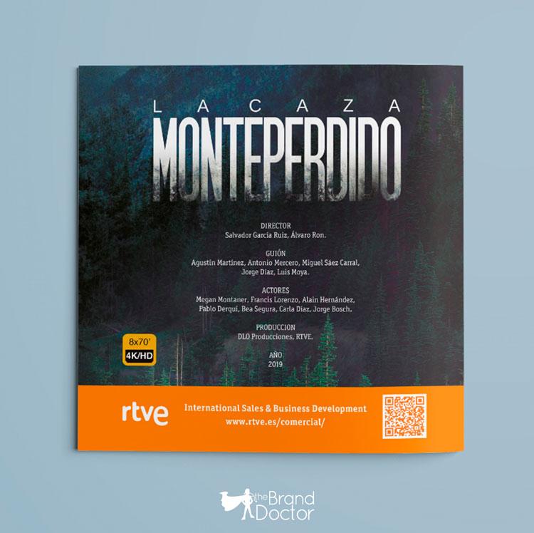 Díptico reverso La Caza. Monteperdido RTVE - the Brand Doctor Branding